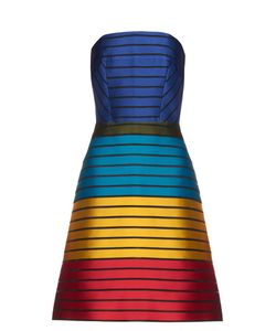 Mary Katrantzou | Freesia Strapless Striped Colour-Block Dress