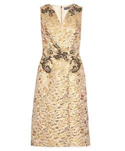 Dolce & Gabbana | Embellished Brocade Sleeveless Dress