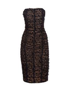 Balenciaga | Ruched-Lace Strapless Dress