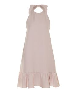 Valentino | Bow-Halterneck Ruffle-Trimmed Dress