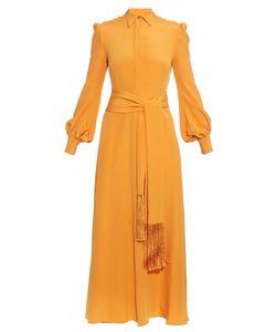 HILLIER BARTLEY | Tassel-Tie Silk-Crepe Dress