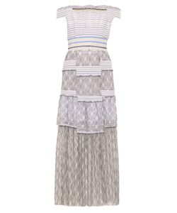 Peter Pilotto | Gaze Off-The-Shoulder Smocked Dress