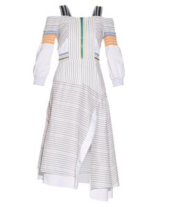 Peter Pilotto   Tempo Smocked Off-The-Shoulder Dress