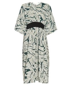 Cedric Charlier | Contrast-Belt Printed Dress