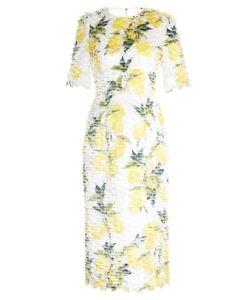 Dolce & Gabbana | Lemon-Print Fil Coupé Dress