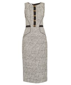 Oscar de la Renta | Sleeveless Bouclé-Tweed Pencil Dress