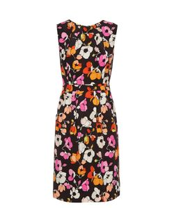 Oscar de la Renta | Sleeveless Print Silk Pencil Dress