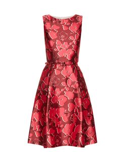 Oscar de la Renta | Sleeveless Print Mikado Dress