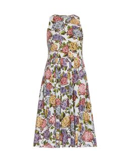 Emilia Wickstead | Olive Hydrangea-Print Dress
