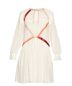 Fendi | Contrast Ribbon Crepe De Chine Dress