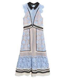 SELF-PORTRAIT | Guipure-Lace Panelled Midi Dress