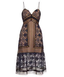 SELF-PORTRAIT | Guipure-Lace Midi Dress