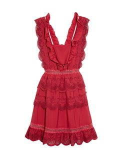 SELF-PORTRAIT | Tie Broderie-Anglaise Mini Dress