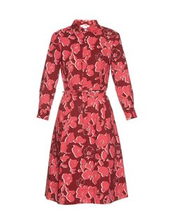 Oscar de la Renta | Graphic Print Stretch-Cotton Shirtdress