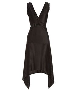 Givenchy | V-Neck Technical-Pleated Jersey Dress