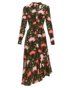 Erdem | Rhea Carnation-Print Silk-Crepe Shirtdress