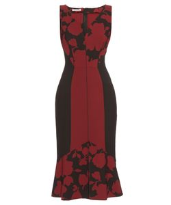 Oscar de la Renta | Fluted-Hem Brocade Dress