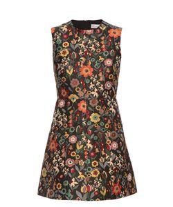 Red Valentino | Fancy Flower-Jacquard Sleeveless Dress