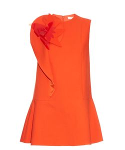 Delpozo | -Brooch Cotton-Blend Crepe Dress