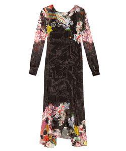 Preen By Thornton Bregazzi   Abigail Rainbow-Print Satin-Devoré Dress
