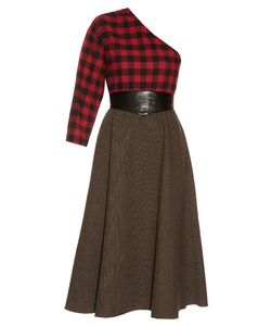A.W.A.K.E. | Grandpas Asymmetric Plaid Midi Dress