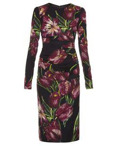 Dolce & Gabbana | Tulip-Print Ruched Dress
