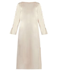Lanvin | Button-Detail Boat-Neck Midi Dress