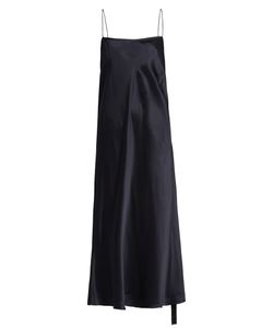 Ellery | Tony Ruched-Side Silk-Satin Slip Dress
