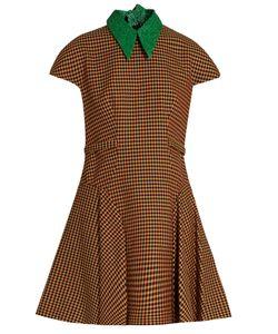 Delpozo | Detachable-Collar Tweed A-Line Dress