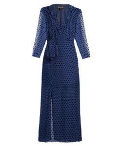Saloni | Jennifer Velvet 3/4-Length Sleeve Dress