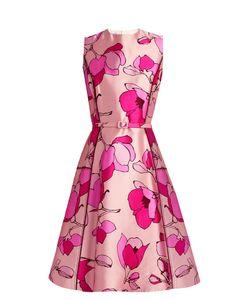 Oscar de la Renta | -Print Silk-Mikado Midi Dress