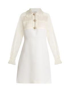 Miu Miu | Crystal-Embellished Wool And Silk Dress