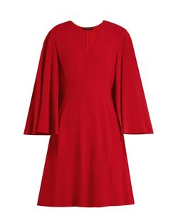 Alexander McQueen | V-Neck Leaf-Crepe Cape Dress