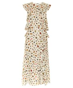 Alexander McQueen | Obsession-Print Ruffle-Trimmed Crepe Dress