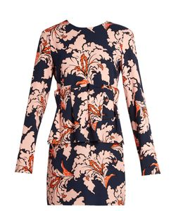 MSGM | Ruffled Print Crepe Dress