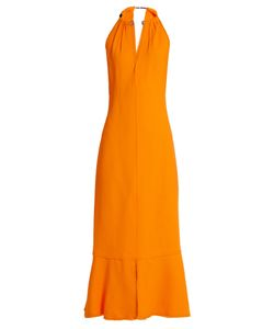 Proenza Schouler | Choker-Neck Crepe Midi Dress
