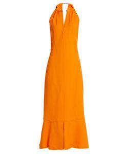 Proenza Schouler | Choker-Neck Crepe Midi Dress