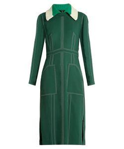 Burberry Prorsum | Detachable-Collar Crepe Dress