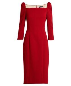 Dolce & Gabbana | Square-Neck Stretch-Wool Pencil Dress