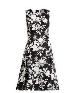 Oscar de la Renta | Rosebush-Print Sleeveless Cotton Dress