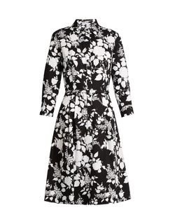 Oscar de la Renta | Rosebush-Print Long-Sleeved Cotton Dress