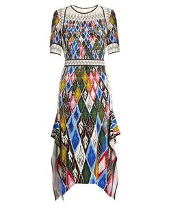 Peter Pilotto | Argyle-Print Cady Midi Dress
