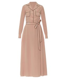 Valentino | Tie-Waist Silk Midi Shirtdress