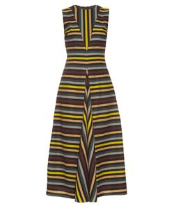 Emilia Wickstead | Milly Striped Cloqué Midi Dress