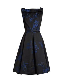 Oscar de la Renta | -Jacquard Satin Dress