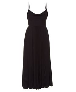 Valentino | Cowl-Neck Silk-Georgette Pleated Midi Dress