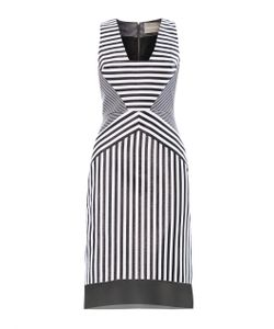 Richard Nicoll | Contoured-Striped Jacquard Dress