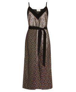 Maison Rabih Kayrouz | -Brocade Tie-Waist Midi Dress