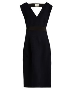 Maison Rabih Kayrouz | V-Neck Wool-Felt Midi Dress