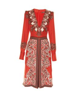 Alexander McQueen | V-Neck Paisley-Print Dress